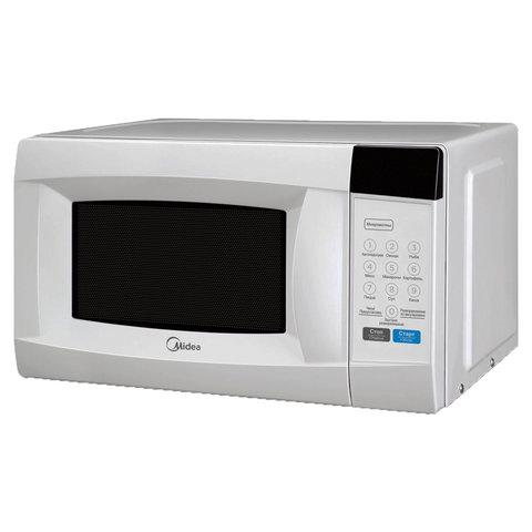 Микроволновая печь MIDEA EM720CKE объем 20 л, мощность 700 Вт, сенсорное управление, дисплей, белая