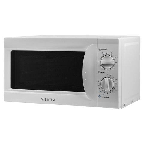 Микроволновая печь VEKTA MS720AHW, объем 20 л, мощность 700 Вт, механическое управление, таймер, белая