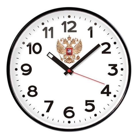 Часы настенные TROYKA 77770732 круг, белые, черная рамка, 30,5х30,5х4 см