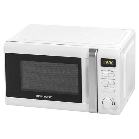 Микроволновая печь HORIZONT 20MW700-1379CTW, объем 20 л, мощность 700 Вт, электронное управление, белая