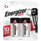 Батарейки ENERGIZER Max, С (LR14, 14А),алкалиновые, КОМПЛЕКТ 2 шт., в блистере, E301533200