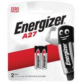 Батарейки ENERGIZER, A27 (27А), алкалиновые, для сигнализаций, КОМПЛЕКТ 2 шт., в блистере, 639333