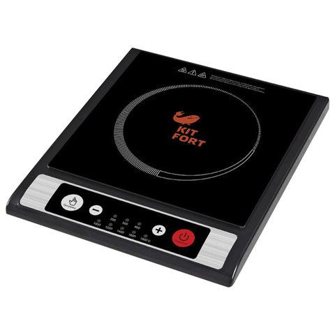 Плитка электрическая индукционная KITFORT KT-107, 1800 Вт, 1 конфорка, 8 режимов, кнопочное управление, черная