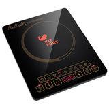 Плитка электрическая индукционная KITFORT КТ-116, 1600 Вт, 1 конфорка, 8 режимов, 8 программ, сенсорное управление, черная, KT-116