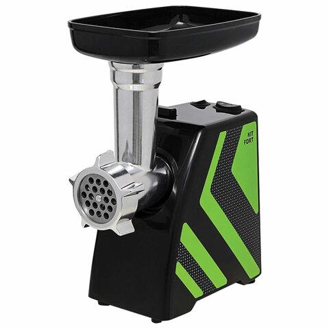 Мясорубка KITFORT КТ-2101-2, 1500 Вт, производительность 1,2 кг/мин, реверс, 2 насадки, пластик, зеленая, KT-2101-2