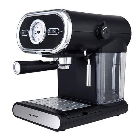 Кофеварка рожковая KITFORT КТ-702, 1100 Вт, объем 1 л, 15 бар, ручной капучинатор, черная, KT-702
