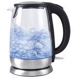 Чайник KITFORT КТ-619, 1,7 л, 2200 Вт, закрытый нагревательный элемент, стекло, серебристый, KT-619