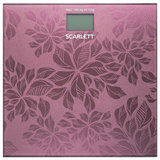 Весы напольные SCARLETT SC-217, электронные, вес до 180 кг, квадратные, стекло, розовые