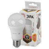 Лампа светодиодная ЭРА, 17 (145) Вт, цоколь E27, груша, теплый белый, 25000 ч, smdA60-17w-827-E27