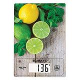 """Весы кухонные SCARLETT SC-KS57P21 """"Лимоны"""", электронный дисплей, max вес 10 кг, тарокомпенсация, стекло"""