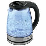 Чайник SCARLETT SC-EK27G72, 1,7 л, 2000 Вт, закрытый нагревательный элемент, стекло, черный