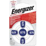 Батарейки для слуховых аппаратов КОМПЛЕКТ 4 шт., ENERGIZER Zinc Air 675, блистер, E001082205