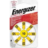 Батарейки для слуховых аппаратов КОМПЛЕКТ 8 шт., ENERGIZER Zinc Air 10, блистер, E301431701