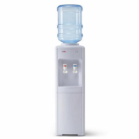 Кулер для воды AEL LD-AEL-16c, напольный, НАГРЕВ/ОХЛАЖДЕНИЕ ЭЛЕКТРОННОЕ, шкаф, 2 крана, белый, 00244