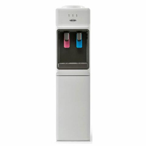 Кулер для воды VATTEN V44WE, напольный, НАГРЕВ/ОХЛАЖДЕНИЕ ЭЛЕКТРОННОЕ, шкаф, 2 крана, белый, 4582