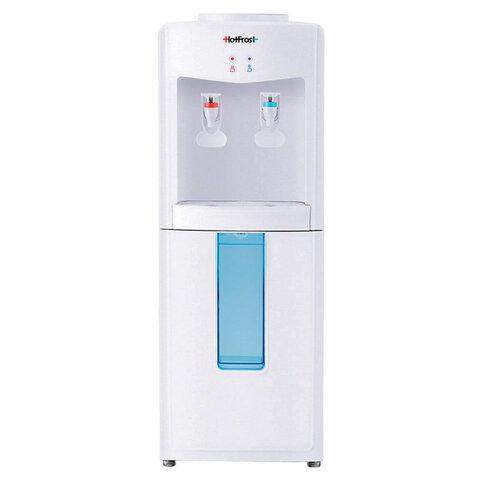 Кулер для воды HOT FROST V118E, напольный, НАГРЕВ/ОХЛАЖДЕНИЕ ЭЛЕКТРОННОЕ, 2 крана, белый, 120211802