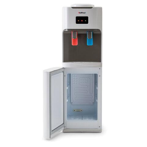 Кулер для воды HOT FROST V115B, напольный, НАГРЕВ/ОХЛАЖДЕНИЕ КОМПРЕССОРНОЕ, холодильник, 2 крана, 120111502