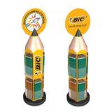 Стойка для выкладки товара напольная BIC, 21х21х90 см, для карандашей, вращающаяся, 944859