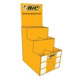 Стойка для выкладки товара настольная BIC, 16х13х38 см, 6 ячеек, пластик, для ручек, 944860