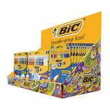 Дисплей для выкладки товара настольный BIC, 24х40х40 см, картонный, с перегородкой, для детского творчества, 944861