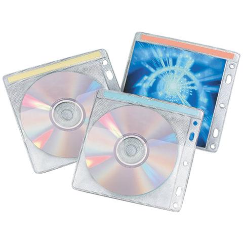 Конверты для CD/DVD BRAUBERG (БРАУБЕРГ), комплект 40 шт., на 2CD/DVD, упаковка с европодвесом, 510196