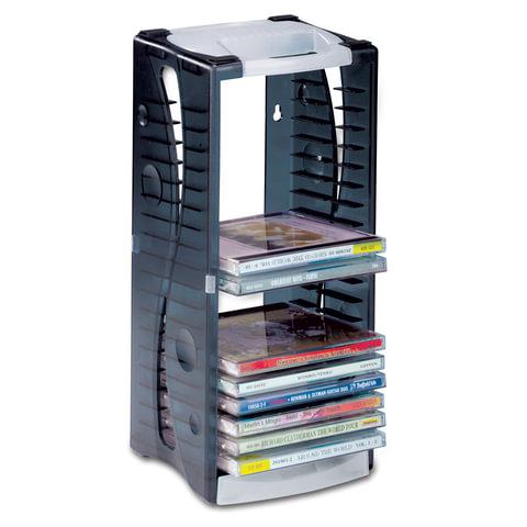 Подставка для CD/DVD BRAUBERG на 20 дисков, разборная, упак. с европодвесом, 510201
