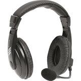 Наушники с микрофоном (гарнитура) DEFENDER HN-750, проводная, 2 м, стерео с оголовьем, регулятор громкости, 63750
