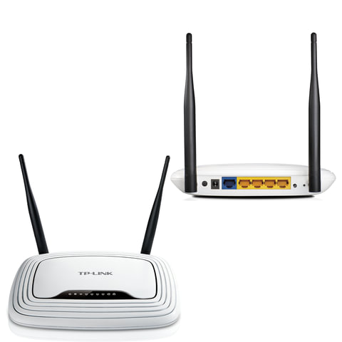 Маршрутизатор TP-LINK TL-WR841N, 1 WAN, 4 LAN, 10/100 Мбит/с, WI-FI 802.11n, 300 Мбит/с