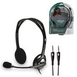 Наушники с микрофоном (гарнитура) LOGITECH H110, проводная, компьютерная, 1,83 м, стерео, 2 x mini jack 3,5 мм, черная, 981-000271