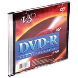 Диск DVD-R VS, 4,7 Gb, 16x, Slim Case, VSDVDRSL01