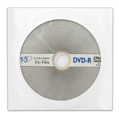 Диск DVD-R VS, 4,7 Gb, 16x, бумажный конверт