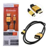 Кабель HDMI-microHDMI, 1м, DEFENDER, M-M, для передачи цифрового аудио-видео, 87462