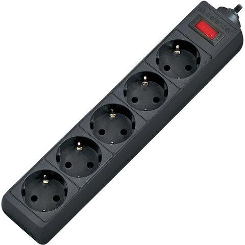 Сетевой фильтр DEFENDER ES, 5 розеток, 3 м, черный, 99485