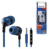 Наушники с микрофоном (гарнитура) DEFENDER Pulse 452, проводная, 1,2 м, вкладыши, для Android, синяя, 63452