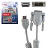 Кабель HDMI-DVI-D, 5 м, BELSIS, 2 фильтра, для передачи цифрового видео, блистер, BW1762