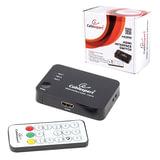 Переключатель HDMI CABLEXPERT, 19Fx3/19F, электронный, 3 устройства на 1 монитор/ТВ, пульт ДУ, DSW-HDMI-33