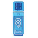 Флеш-диск 8 GB, SMARTBUY Glossy, USB 2.0, синий, SB8GBGS-B