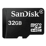 Карта памяти micro SDHC, 32 GB, SANDISK, 4 Мб/сек. (class 4), SDSDQM-032G-B35
