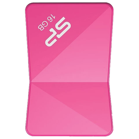 Флэш-диск 16 GB SILICON POWER Touch T08 USB 2.0, розовый, SP16GBUF2T08V1H