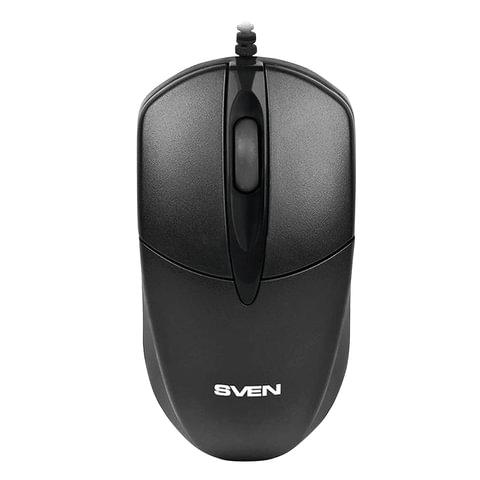 Мышь проводная SVEN RX-112, USB, 2 кнопки+1 колесо-кнопка, оптическая, черная, SV-03200112UB