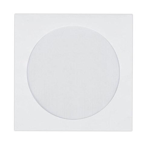 Конверты для CD/DVD (125х125 мм) с окном, бумажные, клей декстрин, КОМПЛЕКТ 100 шт., 201070.100