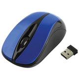 Мышь беспроводная GEMBIRD MUSW-325, 2 кнопки + 1 колесо-кнопка, оптическая, синяя, MUSW-325-B