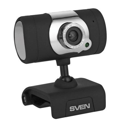 Веб-камера SVEN IC-525, 1,3 Мп, микрофон, USB 2.0, регулируемое крепление, черная, SV, SV-0602IC525