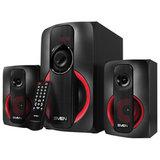 Колонки компьютерные SVEN AC MS-304, 2.1, 40 Вт, FM, USB, SD, MP3-плеер, Bluetooth, дерево, черные, SV-015602
