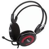 Наушники с микрофоном (гарнитура) SVEN AP-540, проводные, 2,2 м, с оголовьем, черно-красные, SV-0410540