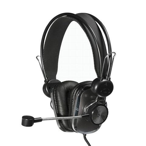 Наушники с микрофоном (гарнитура) SVEN AP-600, проводные, 2,2 м, с оголовьем, черные, SV-0410600