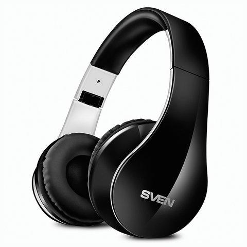 Наушники с микрофоном (гарнитура) SVEN AP-B450MV, Bluetooth, беспроводные, с оголовьем, черные, SV-012694