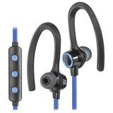 Наушники с микрофоном (гарнитура) DEFENDER OUTFIT B720, Bluetooth, беспроводные, черные с синим, 63720