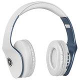 Наушники с микрофоном (гарнитура) DEFENDER FREEMOTION B525, Bluetooth, беспроводные, белые с синим, 63526