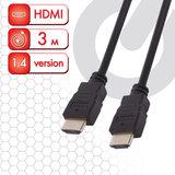 Кабель HDMI AM-AM, 3 м, SONNEN, для передачи цифрового аудио-видео, черный, 513121